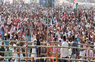 Unruly scenes at Rahul Gandhi's rally in West Bengal's Malda