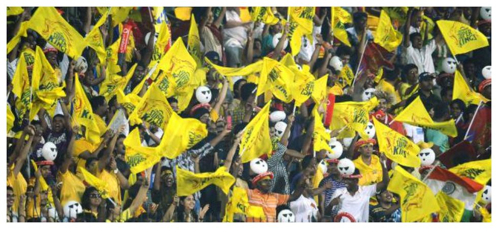 Chennai Super Kings and their fans have a notable presence on every ground during the Indian Premier League 2019. (Image credit: Twitter)