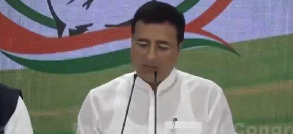 Congress chief spokesperson Randeep Singh Surjewala. (Video grab/Twitter)