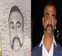 Bengaluru artist draws wing Commander Abhinandan's picture using typewriter