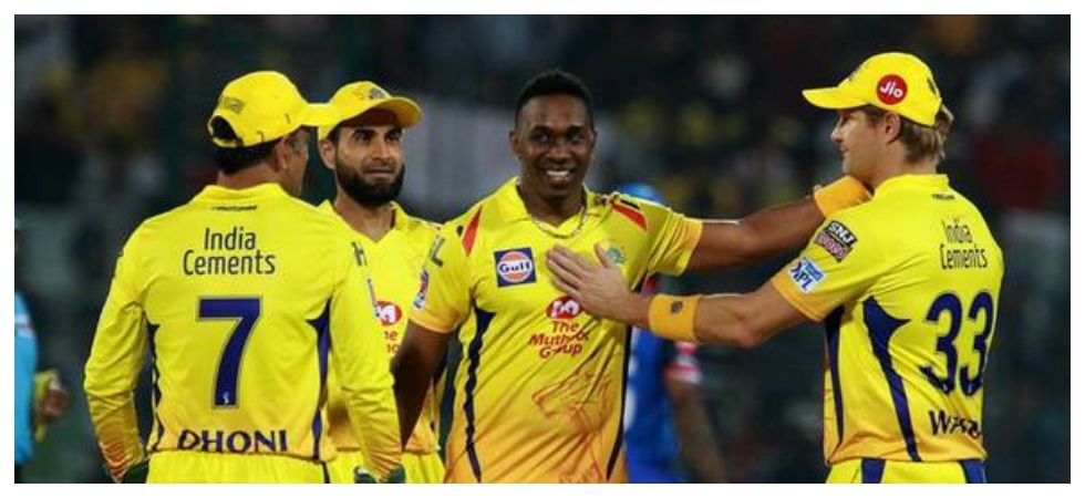 Dwayne Bravo's spell and Shane Watson's blazing knock helped Chennai Super Kings beat Delhi Capitals by six wickets in the IPL 2019 encounter. (Image credit: Twitter)