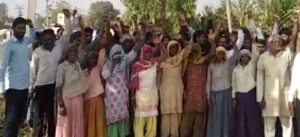Villagers of Yogender Nagar in Uttar Pradesh's Muzaffarnagar district. (Image quality regretted)