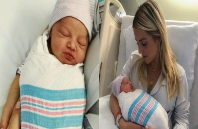 Vampire Diaries star Claire Holt and husband Andrew Joblon welcome baby boy