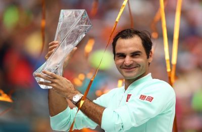 Roger Federer clinches 101st ATP title with win over John Isner in Miami Open