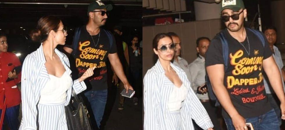 Malaika Arora and Arjun Kapoor spotted at the Mumbai airport./ Image: Instagram