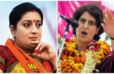 Irani takes a dig at Priyanka over her Ayodhya visit, says Cong afraid of losing votes