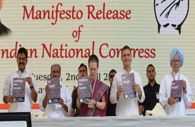 Congress releases manifesto for Lok Sabha polls with focus on jobs, farmers, NYAY
