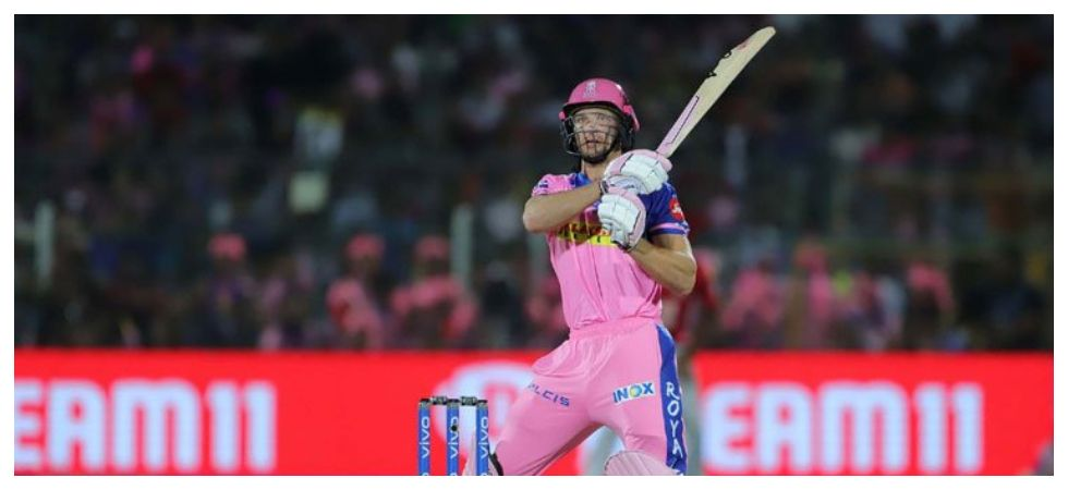 Jos Buttler scored 59 as Rajasthan Royals secured a seven-wicket win against Royal Challengers Bangalore for their first win in IPL 2019. Get highlights of RR vs RCB here. (Image credit: Twitter)