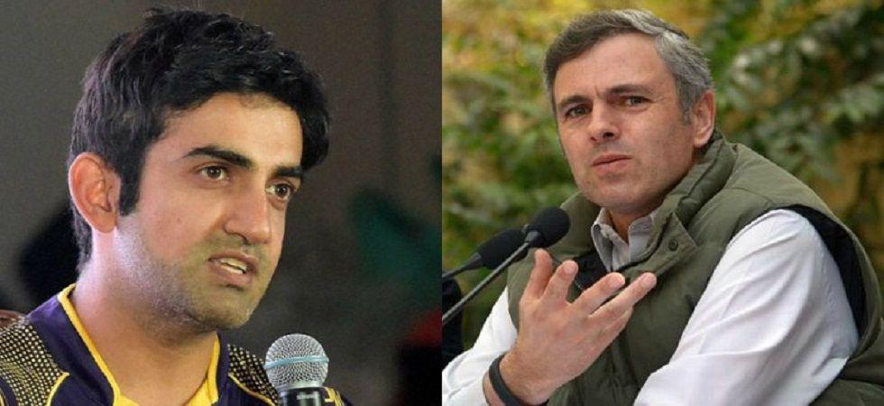 Gautam Gambhir and Omar Abdullah engage in a war-of-words on Twitter.