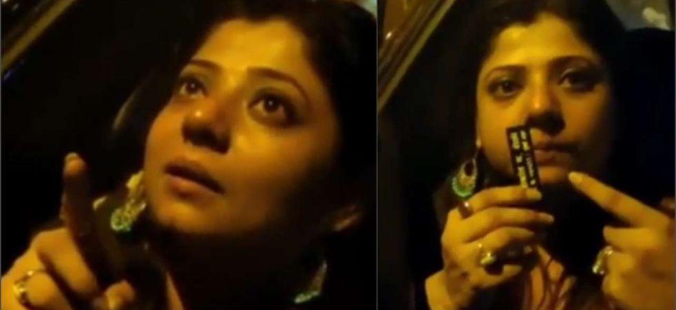 'Drunk' TV starlet Ruhi Singh booked for drunken driving and assaulting Mumbai policeman.