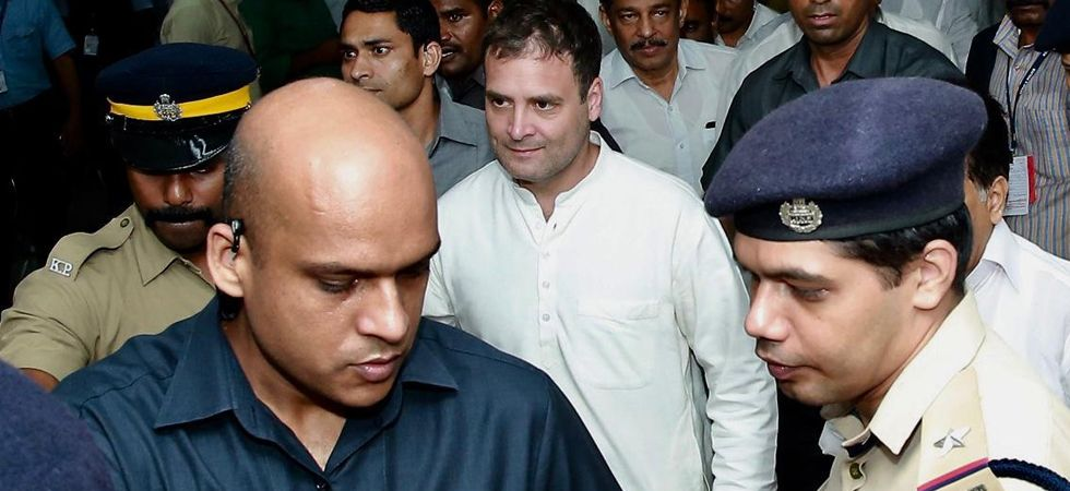 Congress president Rahul Gandhi arrives at Karipur Airport