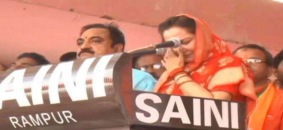 Jaya Prada has represented Rampur Lok Sabha in 2009 and 2014. (Image Credit: Video grab)