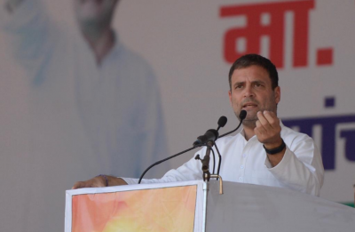 Chowkidar has no money for loan waivers, but served interests of his industrialist friends: Rahul Gandhi