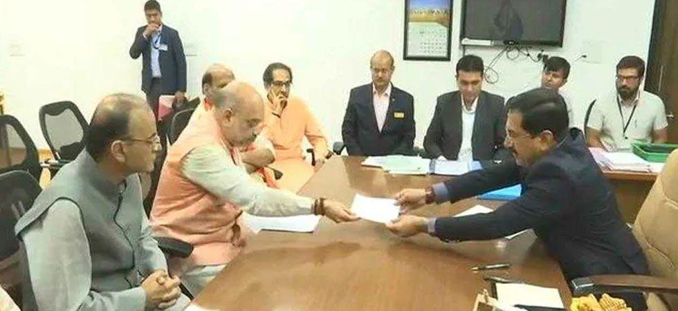 BJP president Amit Shah filing his nomination from Gujarat's Gandhinagar seat