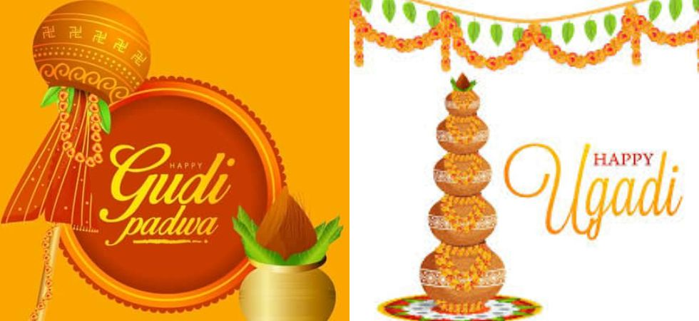 People celebrate Ugadi and Gudi Padwa by decorating their houses and wearing new clothes and making colourful rangolis.