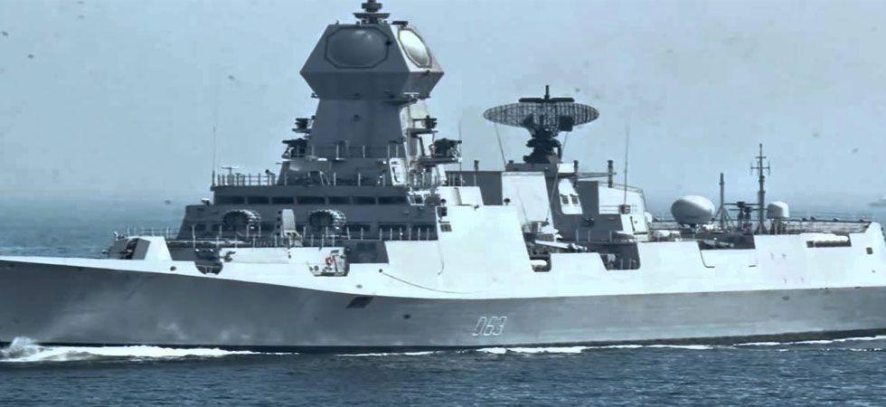 File photo of INS Kolkata (Courtesy: Youtube)