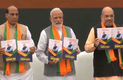 BJP repeats Ram Temple promise in 2019 manifesto, Uniform Civil Code, pension for small traders among other key features