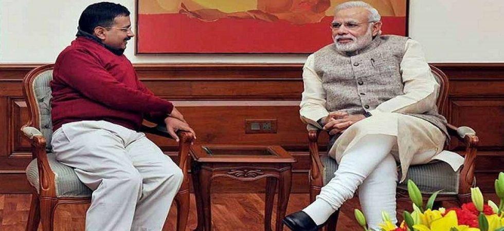 Prime Minister Narendra Modi with Delhi Chief Minister Arvind Kejriwal (File Photo)
