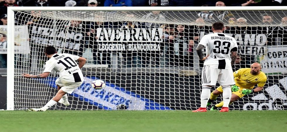 Juventus secured a 2-1 win but their Serie A title push was delayed by a draw by Napoli against Genoa. (Image credit: Twitter)