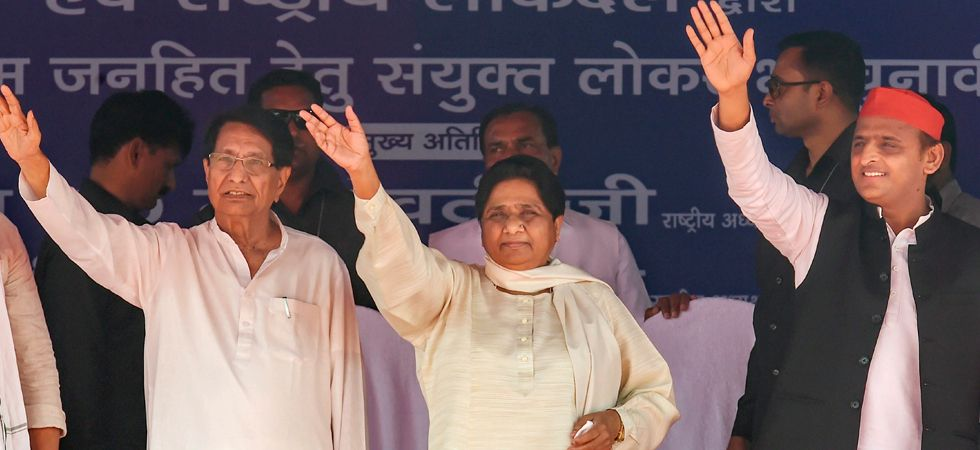 Bahujan Samaj Party (BSP) chief Mayawati, Samajwadi Party (SP) chief Akhilesh Yadav and Rashtriya Lok Dal (RLD) leader Ajit Singh. (File photo: PTI)