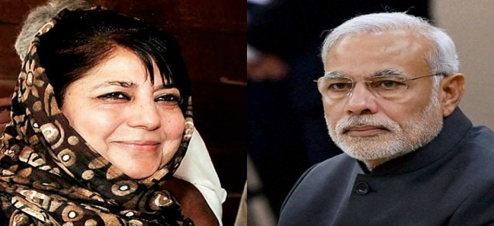 Prime Minister Narendra Modi and former J-K chief minister Mehbooba Mufti (File Photo)