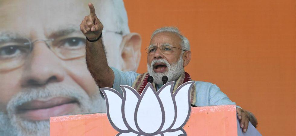 Prime Minister Narendra Modi addressing a rally (Image: Twitter)