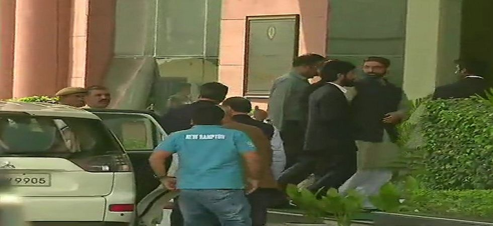 Mirwaiz Umar Farooq on Monday arrived in New Delhi to appear before the National Investigation Agency (NIA) in connection with an alleged terror funding case