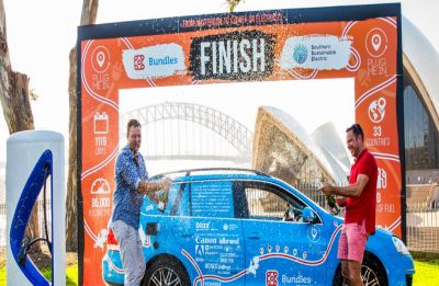 This man drove epic 95,000 km to complete 'world's longest electric car trip' in Australia