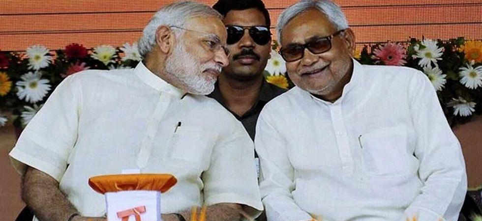 Prime Minister Narendra Modi with Bihar Chief Minister and JDU leader Nitish Kumar. (File Photo: PTI)