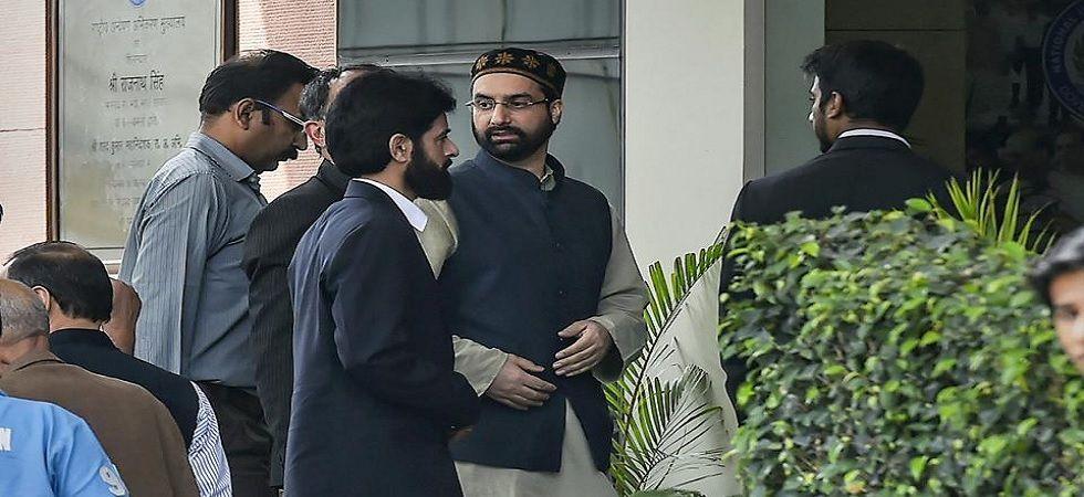 Mirwaiz Umar Farooq on Tuesday appeared before the National Investigation Agency for the second consecutive day (Photo: PTI)