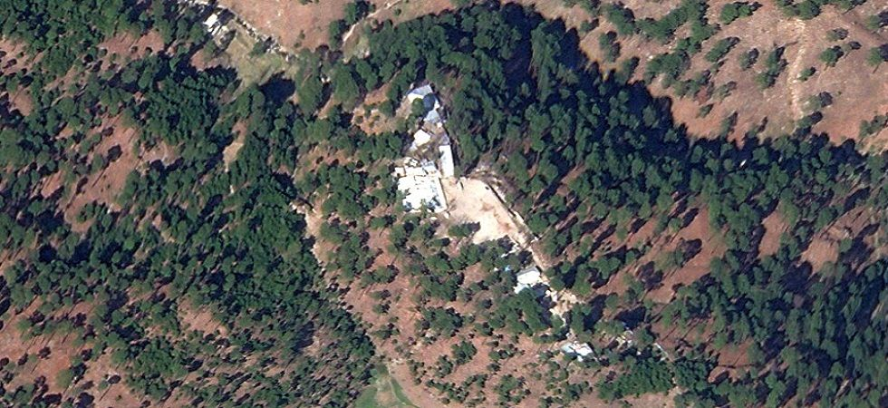 A satellite image shows a close-up of the Jaish-e-Mohammed training camp in Pakistan's Khyber-Pakhtunkhwa province. (File)