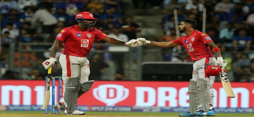 Chris Gayle blasted 63 off 36 balls but Kings XI Punjab still lost by three wickets against Mumbai Indians thanks to Kieron Pollard's 83 off 31 ball