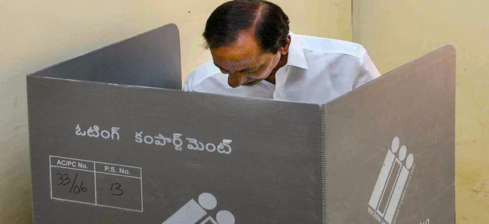 Chief Minister K Chandrasekhar Rao casts his vote in Telangana (File Photo)