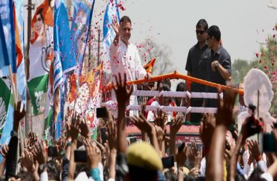 Laser, possibly from sniper gun, pointed at Rahul Gandhi's head during Amethi roadshow: Congress