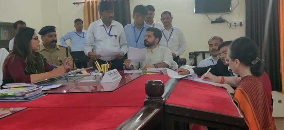 Sonia Gandhi filing her nomination at district collectorate in Rae Bareli