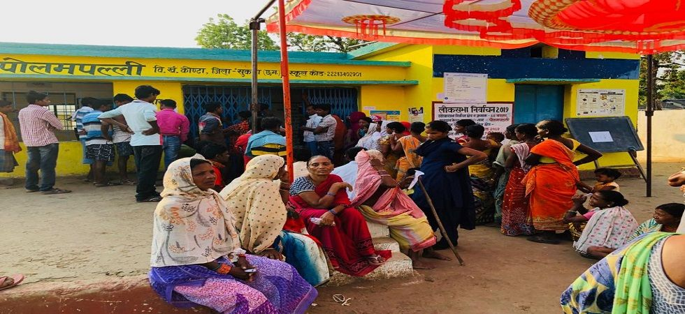 A polling station in Chhatisgarh's Sukma which is a sensitive Red zone. (Photo: News Nation)
