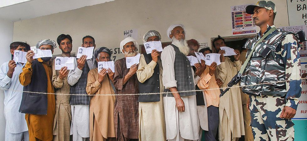 While Jammu district recorded 72.19 per cent polling, Samba registered the highest turnout of 73.8 per cent. (Image Credit: PTI)