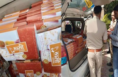 'Namo Foods' distributed to cops deployed at polling booth in Noida, Election Commission seeks report