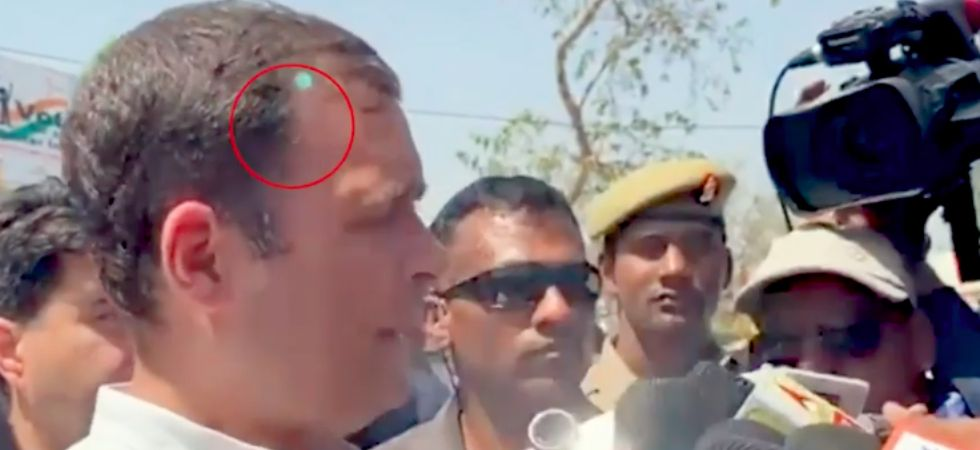 'Green light' pointed at Rahul Gandhi that of mobile phone used by Congress photographer: MHA