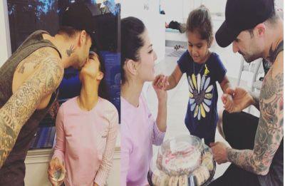 Sunny Leone-Daniel Weber's wedding anniversary celebration is all about kisses and cakes