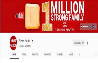 Thank you! News Nation YouTube channel crosses 1 MILLION subscribers