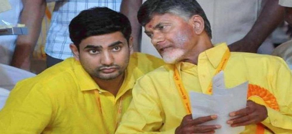 Chief Minister N Chandrababu Naidu's son Nara Lokesh, who is contesting the Mangalagiri Assembly seat, staged a protest at a polling station in Tadepalli town late Thursday night alleging lack of provision of basic facilities for the voters. (File photo