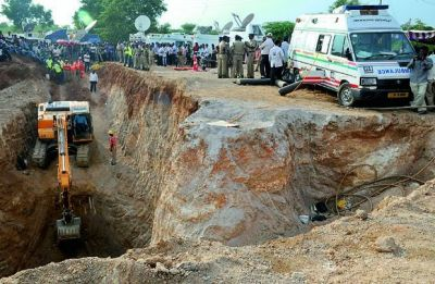 5-year-old boy slipped into 100-feet-deep borewell in Mathura, rescue operations on