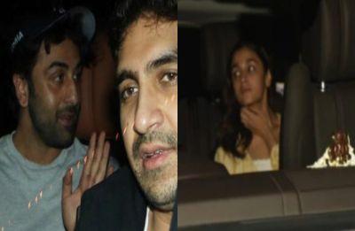 Alia Bhatt and boyfriend Ranbir Kapoor SPOTTED outside Karan Johar's residence, see PICS