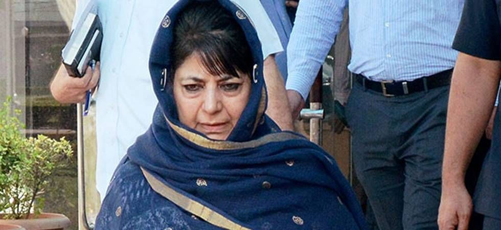 PDP president Mehbooba Mufti's motorcade came under stone-pelting in Anantnag district of Jammu and Kashmir on Monday