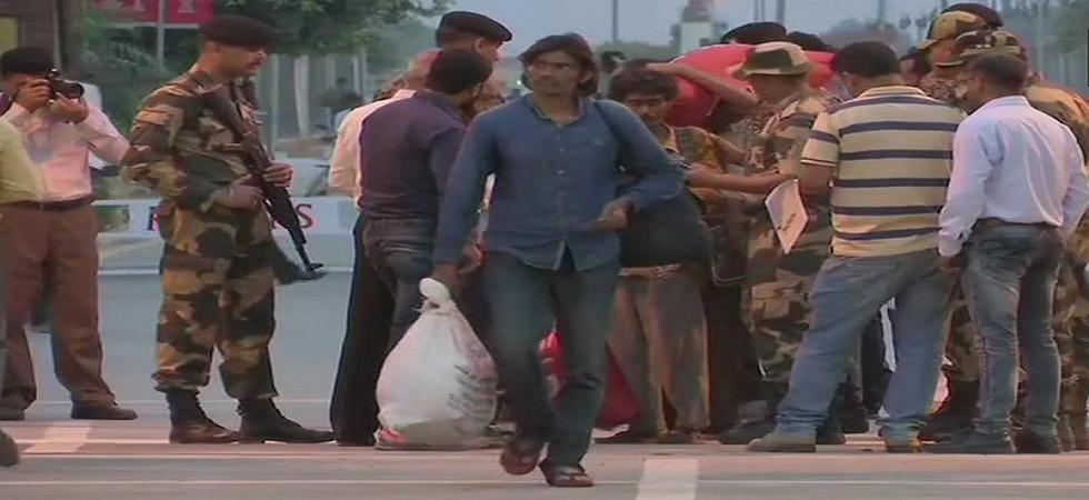 The fishermen crossed over to India on Monday evening on the basis of 'emergency travel certificates' issued by the Indian High Commission in Islamabad. (ANI/Twitter)
