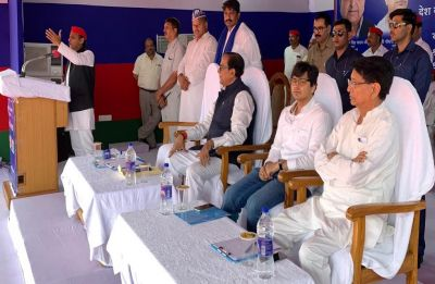 At mega SP-BSP-RLD rally in Agra, nephew Akash Anand fills Mayawati's void