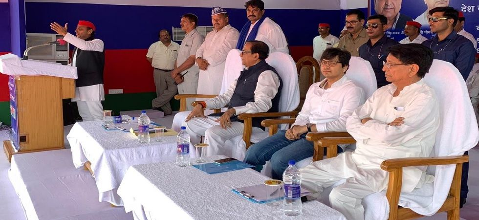 Akash Anand, nephew of BSP supremo Mayawati (2nd in a row from right)