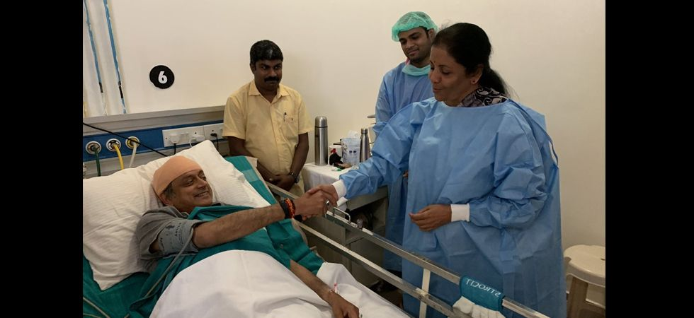 Nirmala Sitharaman visits Shashi Tharoor