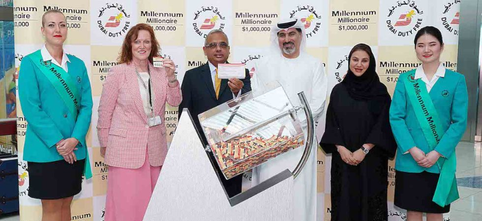 The draw for Dubai Duty Free's Millennium Millionaire took place today (Tuesday) in Concourse B Terminal 3 of Dubai International Airport. (Photo courtesy: DDF official website)